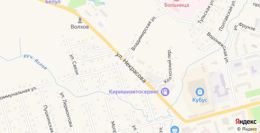Улица Некрасова в Волхове с номерами домов на карте. Спутник и схема онлайн