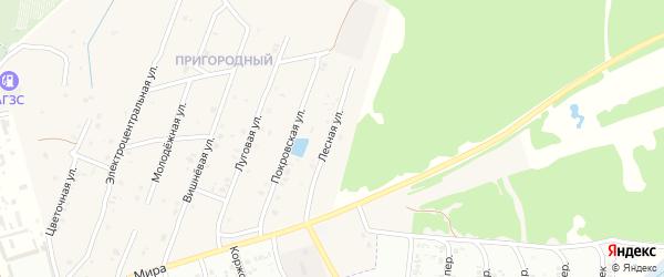 Лесная улица на карте села Коржовки-Голубовки Брянской области с номерами домов