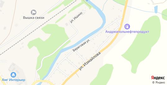 Береговая улица в Андреаполе с номерами домов на карте. Спутник и схема онлайн