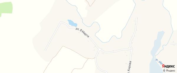 Улица 8 Марта на карте села Нового Ропска с номерами домов