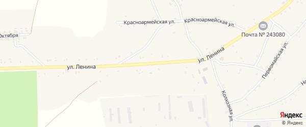 Улица Ленина на карте села Нового Ропска Брянской области с номерами домов