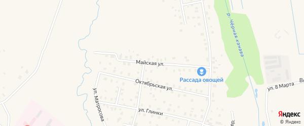 Майская улица на карте Волхова с номерами домов