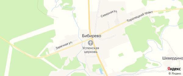 Карта деревни Бибирево в Тверской области с улицами и номерами домов