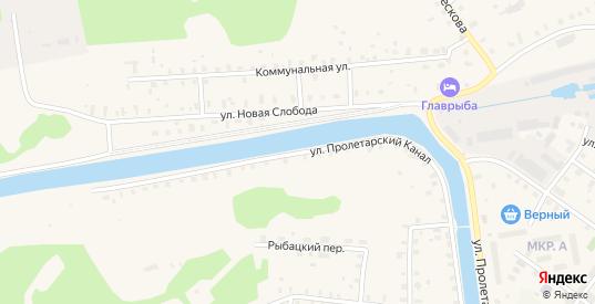 Улица Пролетарский канал в Новой Ладоге с номерами домов на карте. Спутник и схема онлайн