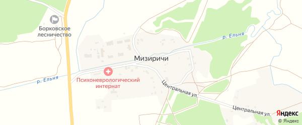 Зеленая улица на карте СНТ Дружбы с номерами домов