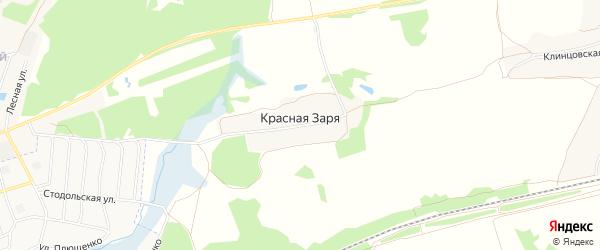 Карта поселка Красной Зари в Брянской области с улицами и номерами домов