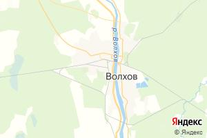 Карта г. Волхов Ленинградская область