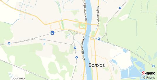Карта Волхова с улицами и домами подробная. Показать со спутника номера домов онлайн