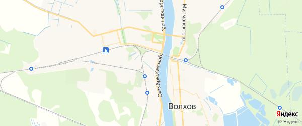 Карта Волхова с районами, улицами и номерами домов