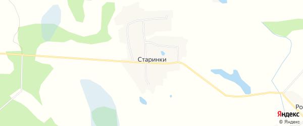 Карта деревни Старинки (Лосненское с/пос) в Смоленской области с улицами и номерами домов