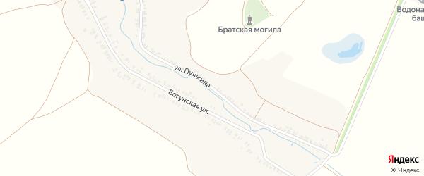 Улица Пушкина на карте села Коржовки-Голубовки Брянской области с номерами домов