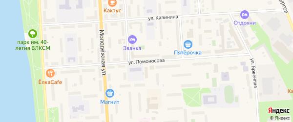Улица Ломоносова на карте Волхова с номерами домов