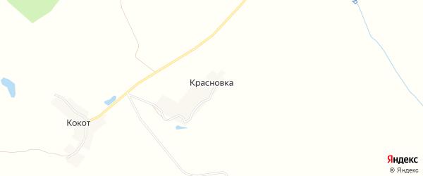 Карта деревни Красновки в Брянской области с улицами и номерами домов