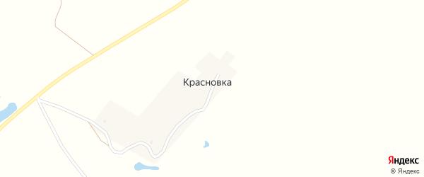Улица Румянцева на карте деревни Красновки Брянской области с номерами домов