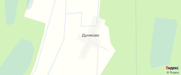 Карта деревни Дуняково в Ленинградской области с улицами и номерами домов