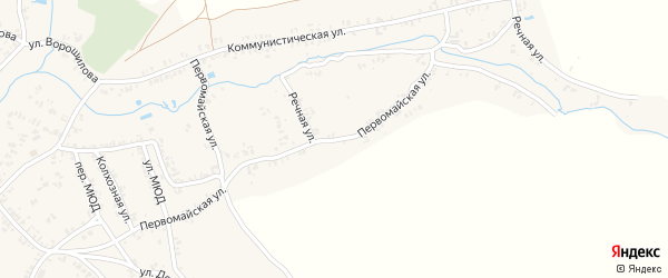 Первомайская улица на карте села Коржовки-Голубовки с номерами домов