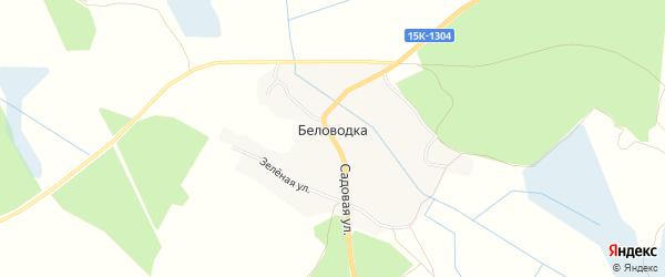 Карта деревни Беловодки в Брянской области с улицами и номерами домов