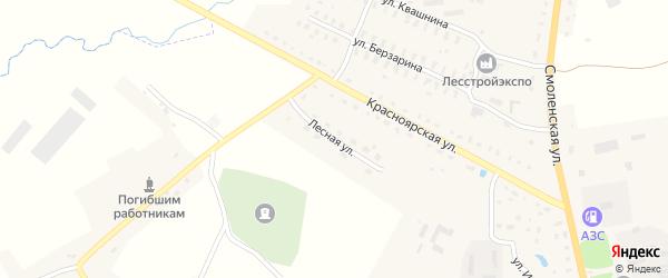 Лесная улица на карте Духовщины с номерами домов