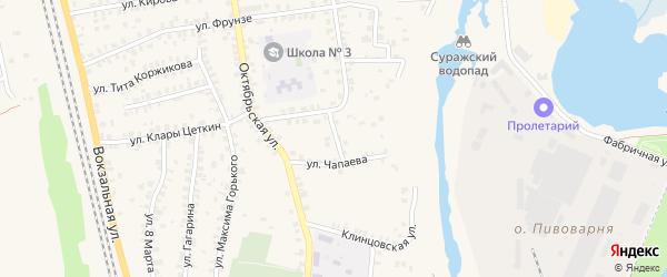 Улица Чапаева на карте Суража с номерами домов