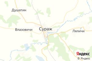 Карта г. Сураж Брянская область