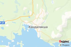 Карта г. Кандалакша Мурманская область
