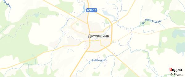 Карта Духовщины с районами, улицами и номерами домов