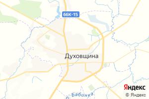 Карта г. Духовщина Смоленская область