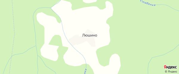 Карта деревни Люшино города Осташкова в Тверской области с улицами и номерами домов