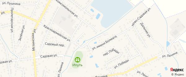 Переулок Имени Болмата на карте Суража с номерами домов
