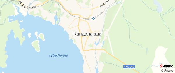 Карта Кандалакши с районами, улицами и номерами домов