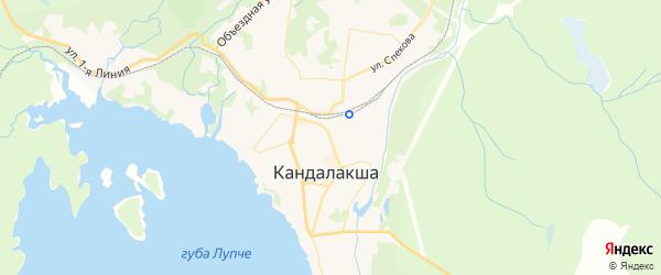 Карта Кандалакши с районами, улицами и номерами домов: Кандалакша на карте России