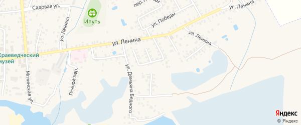 Улица Калинина на карте Суража с номерами домов