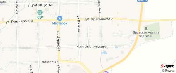 Переулок Шацкого на карте Духовщины с номерами домов
