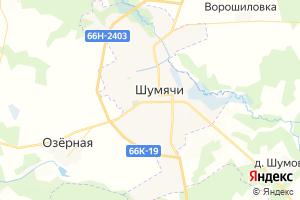 Карта пгт Шумячи Смоленская область