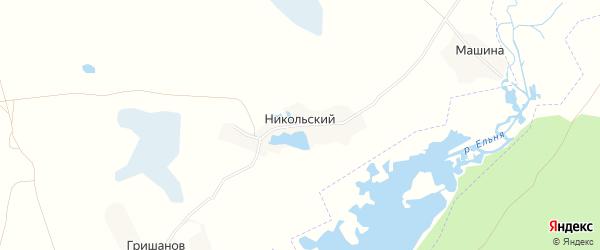 Карта Никольского поселка в Брянской области с улицами и номерами домов