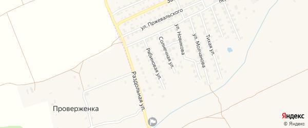 Рябиновая улица на карте Починка с номерами домов