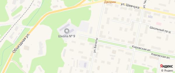Высокая улица на карте Кандалакши с номерами домов