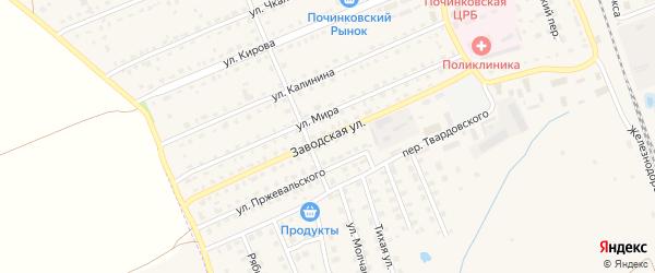 Заводская улица на карте Починка с номерами домов