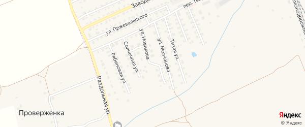Улица Новикова на карте Починка с номерами домов