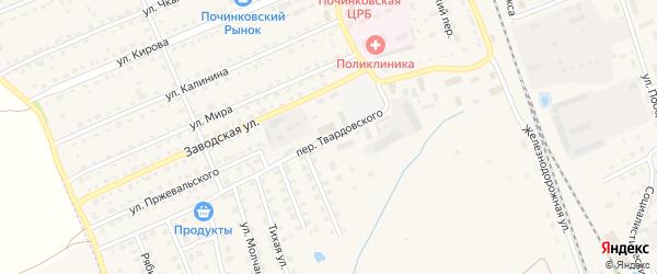 Переулок Твардовского на карте Починка с номерами домов