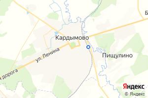 Карта пгт Кардымово Смоленская область