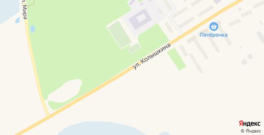 Улица Колышкина в Заозерске с номерами домов на карте. Спутник и схема онлайн