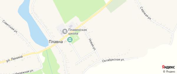 Новая улица на карте деревни Плавны с номерами домов