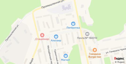 Строительная улица в Заозерске с номерами домов на карте. Спутник и схема онлайн