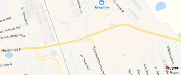 Красноармейская улица на карте Починка с номерами домов