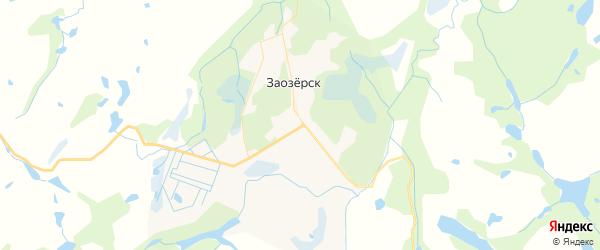 Карта Заозерска с районами, улицами и номерами домов