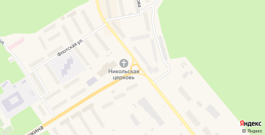 Свято-Никольская площадь в Заозерске с номерами домов на карте. Спутник и схема онлайн