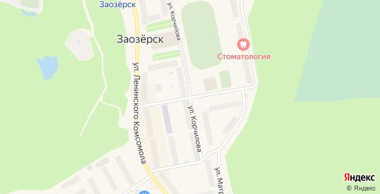 Спортивный переулок в Заозерске с номерами домов на карте. Спутник и схема онлайн