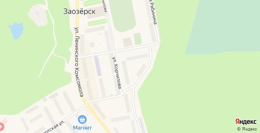 Территория Городская сопка в Заозерске с номерами домов на карте. Спутник и схема онлайн