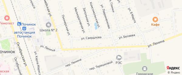 Улица Свердлова на карте Починка с номерами домов